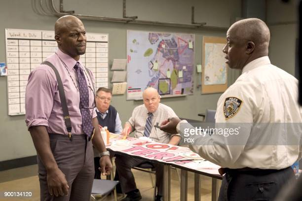 Terry Crews Joel McKinnon Miller Dirk Blocker and Andre Braugher in the 'The Venue' episode of BROOKLYN NINENINE airing Tuesday Nov 7 on FOX
