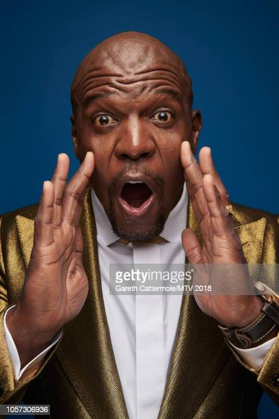 Terry Crews poses at the MTV EMAs 2018 studio at Bilbao Exhibition Centre on November 4 2018 in Bilbao Spain