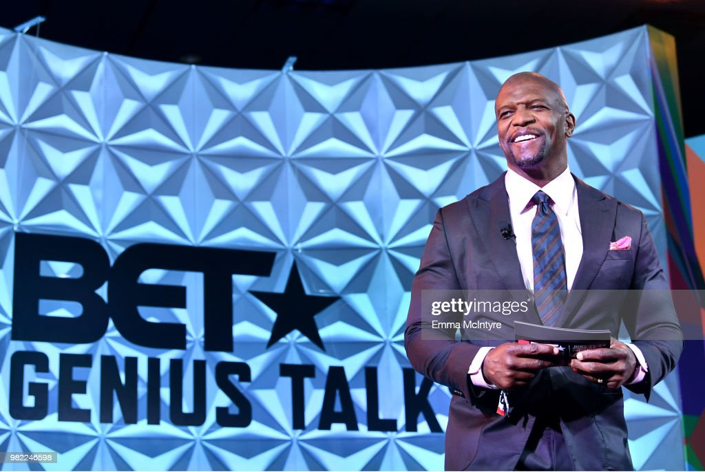 Terry Crews speaks onstage at the Genius Talks sponsored by AT&T during the 2018 BET Experience at the Los Angeles Convention Center on June 23, 2018 in Los Angeles, California.
