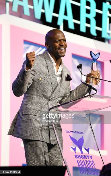 Terry Crews speaks onstage during the 11th Annual Shorty Awards on May 05, 2019 at PlayStation Theater in New York City.