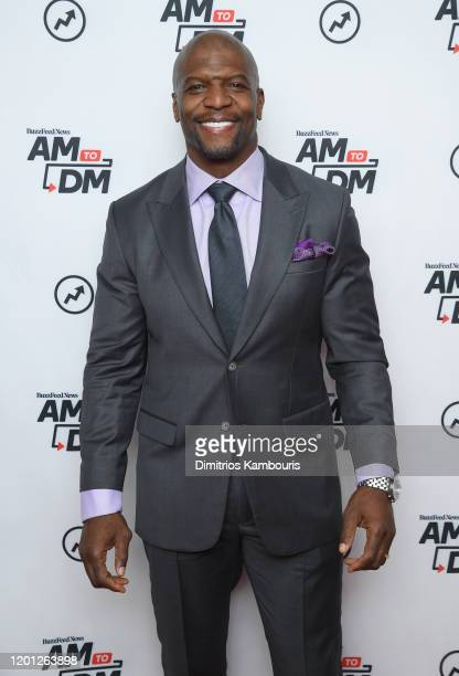 "Terry Crews visits BuzzFeed's ""AM To DM""on January 22, 2020 in New York City."