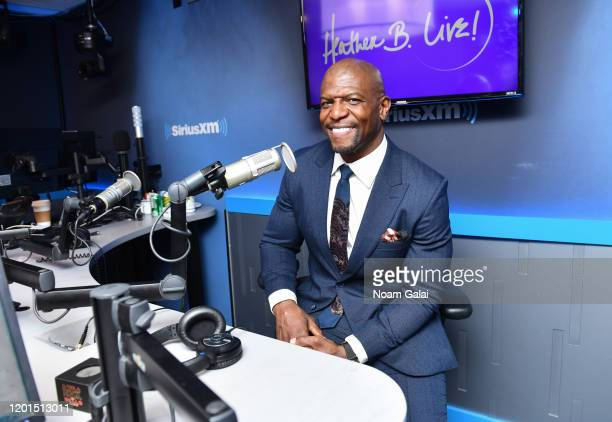 Terry Crews visits 'Heather B Live' with Heather B at the SiriusXM Studios on January 23 2020 in New York City