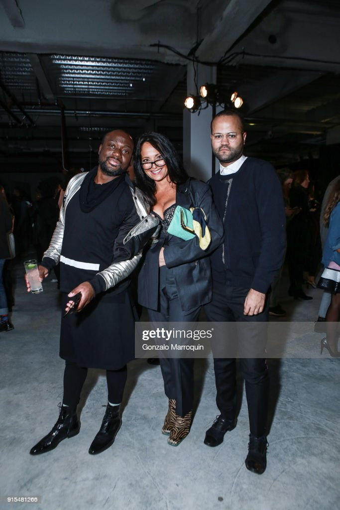 Terry Doe, Emma Snowdon Jones and Andre Edwards during the Epson's F/W 18 Digital Couture Panel and Presentation on February 6, 2018 in New York City.