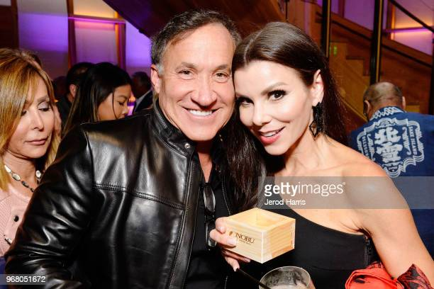 Terry Dubrow and Heather Dubrow attend Nobu Newport Beach Sake Ceremony at Lido Marina Village at Nobu on June 5 2018 in Newport Beach California