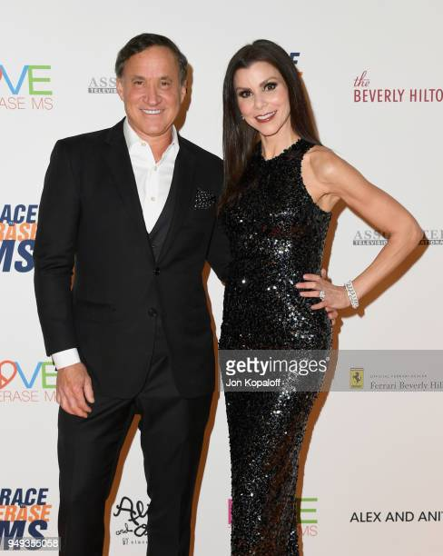 Terry Dubrow and Heather Dubrow attend the 25th Annual Race To Erase MS Gala at The Beverly Hilton Hotel on April 20 2018 in Beverly Hills California