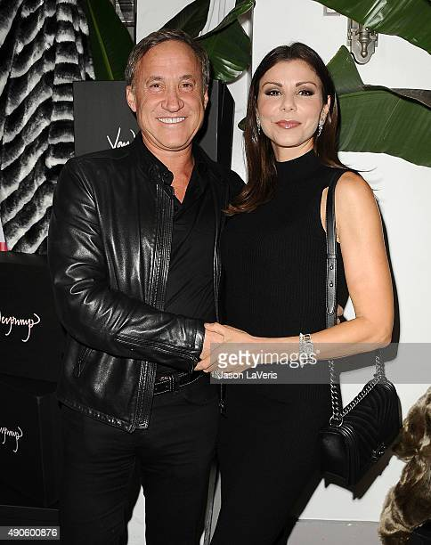 Terry Dubrow and Heather Dubrow attend the EVINE Live celebration at Villa Blanca on September 29 2015 in Beverly Hills California