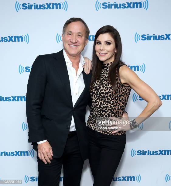Terry Dubrow and Heather Dubrow visit at SiriusXM Studios on October 15 2018 in New York City