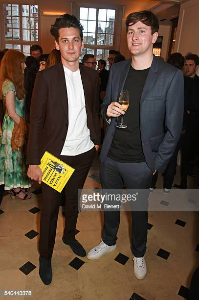 Terry Edwards and George Craig attend the launch of their new book 'Terry George Feeding Friends' at Thomas's in Burberry 121 Regent Street on June...