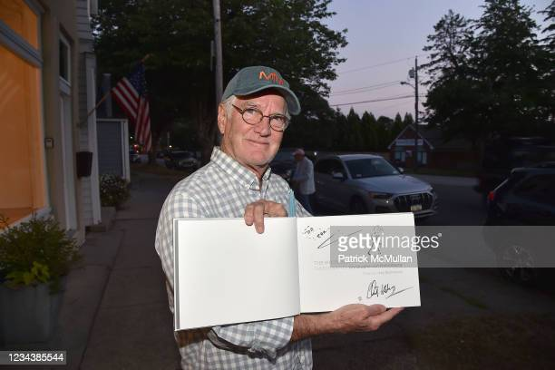"""Terry Elkins attends the release of Christophe von Hohenberg's new book """"The White Album of The Hamptons"""" and Bruce Helander's """"Collages and Erased..."""