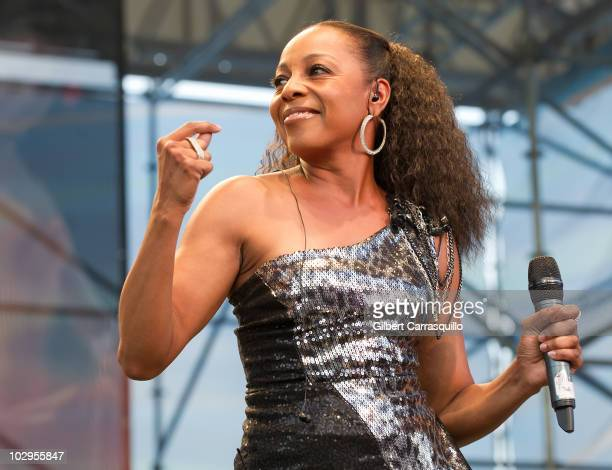 Terry Ellis of En Vogue performs at the 4th Annual Global Fusion Festival at Penn's Landing on July 17 2010 in Philadelphia Pennsylvania