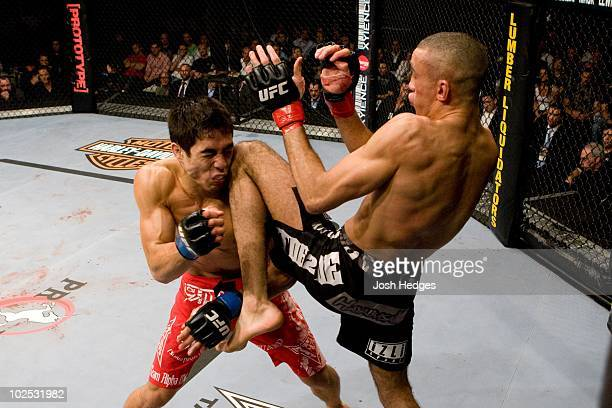 Terry Etim def Justin Buchholz Submission 238 round 2 during UFC 99 at Lanxess Arena on June 13 2009 in Cologne Germany