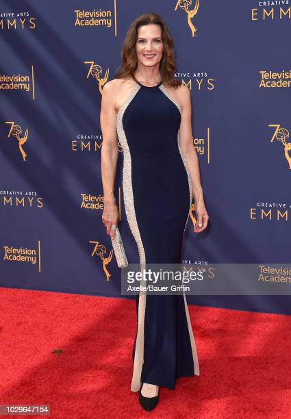 Terry Farrell attends the 2018 Creative Arts Emmy Awards at Microsoft Theater on September 8, 2018 in Los Angeles, California.