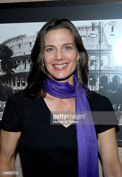 Terry Farrell Baker attends the opening night reception of Shari Belafonte's ITALY exhibit at the Chair and The Maiden on October 7 2010 in New York...