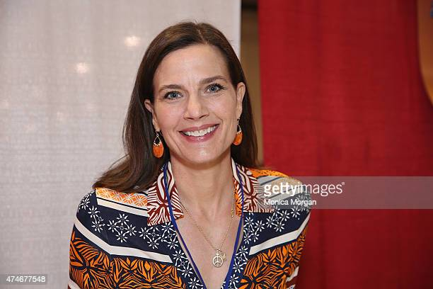 Terry Farrell known for playing Jadzia Dax on Star Trek Deep Space Nine attends the Motor City Comic Con at Suburban Collection Showplace on May 15...