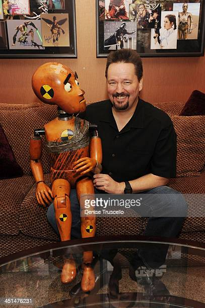Terry Fator introduces his new puppet named Wrex backstage at Terry Fator's one year anniversary show at The Mirage Hotel and Casino on March 13 2010...