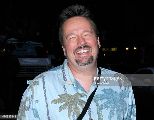 Terry Fator leaves the 'Late Show with David Letterman' at Ed Sullivan Theater on February 20 2014 in New York City
