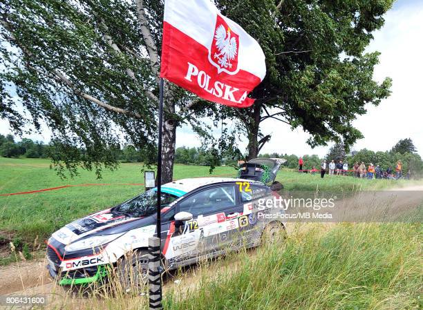 Terry Folb Christopher Guieu during the WRC Orlen 74 Rally Poland on July 01 2017 in Mikolajki Poland
