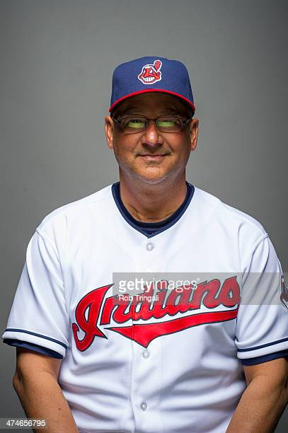 Terry Francona manager of the Cleveland Indians poses for a portrait at Goodyear Ballpark on February 24 2014 in Goodyear Arizona