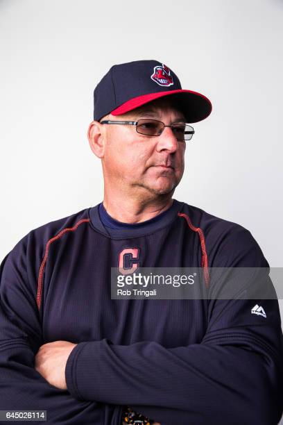 Terry Francona manager of the Cleveland Indians poses for a portrait during Indians Photo Day at the Goodyear Sports Complex on February 24 2017 in...