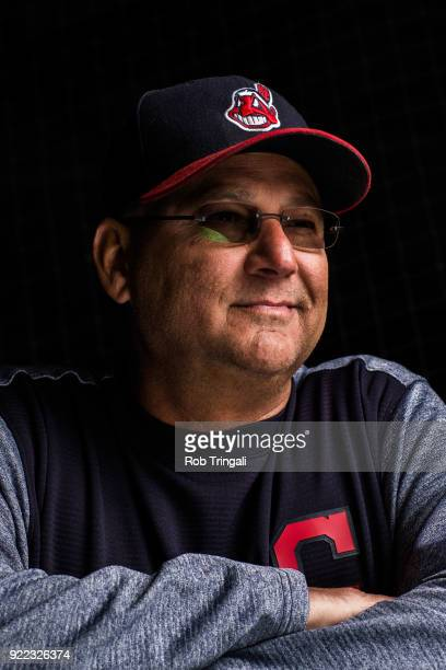 Terry Francona manager of the Cleveland Indians poses for a portrait at the Cleveland Indians Player Development Complex on February 21 2018 in...