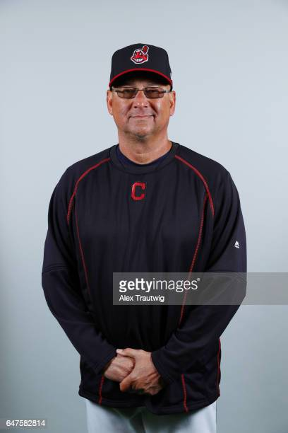 Terry Francona of the Cleveland Indians poses during Photo Day on Friday February 24 2017 at Goodyear Ballpark in Goodyear Arizona