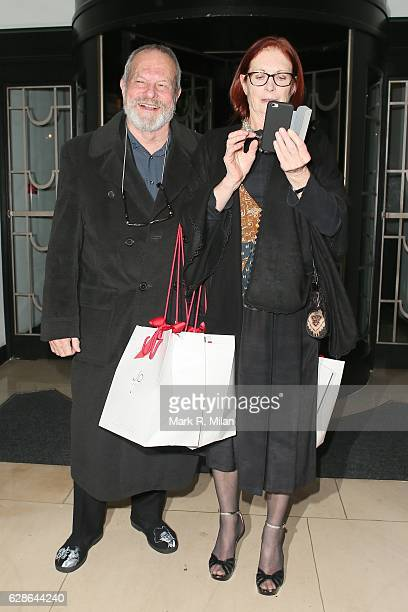 Terry Gillam and Maggie Weston attend the London Evening Standard British Film Awards on December 8 2016 in London England