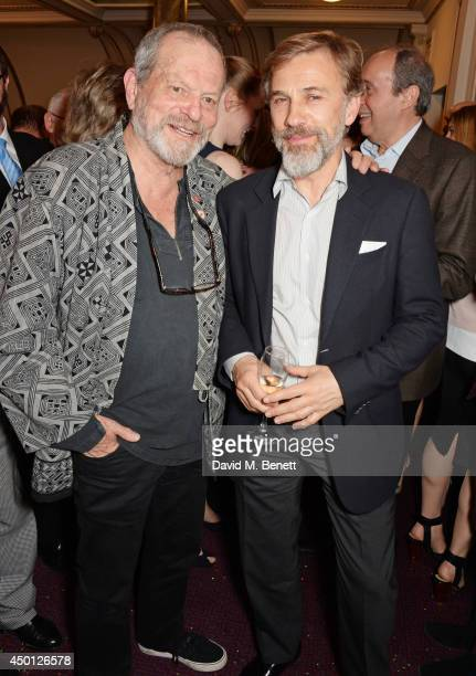 Terry Gilliam and Christoph Waltz attend an after party celebrating the press night performance of Benvenuto Cellini directed by Terry Gilliam for...