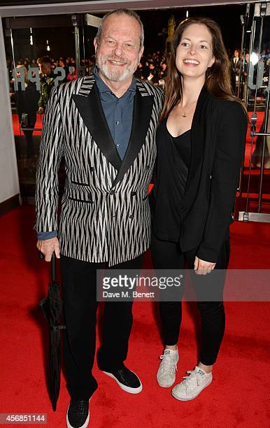 Terry Gilliam and daughter Amy Gilliam attend the Opening Night Gala Screening of 'The Imitation Game' during the 58th London Film Festival at Odeon...