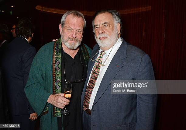 Terry Gilliam and Francis Ford Coppola attend the Liberatum Cultural Honour for Francis Ford Coppola at The Bulgari Hotel on November 17 2014 in...