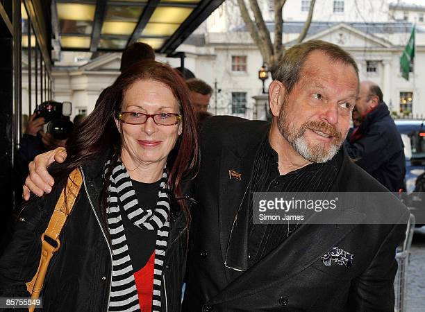 Terry Gilliam and his wife Maggie Weston attend the gala premiere of 'In The Loop' at Curzon Mayfair on April 1, 2009 in London, England.