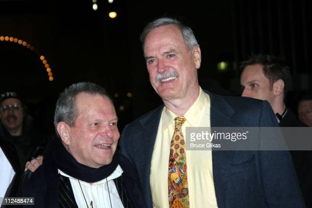 Terry Gilliam and John Cleese during Monty Python's 'Spamalot' Opening Night on Broadway Arrivals at The Shubert Theater in New York City New York...