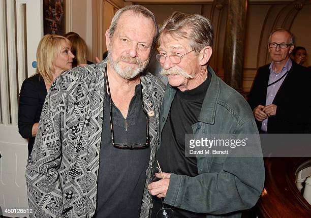 Terry Gilliam and John Hurt attend an after party celebrating the press night performance of 'Benvenuto Cellini' directed by Terry Gilliam for the...