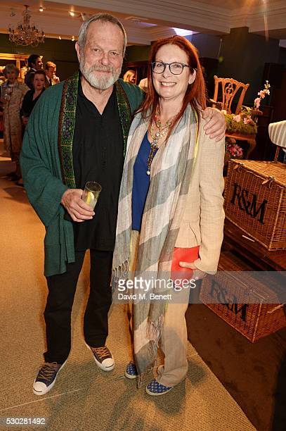 Terry Gilliam and Maggie Weston attend Fortnum Mason's postpremiere party for new release Alice Through the Looking Glass at Fortnum Mason on May 10...
