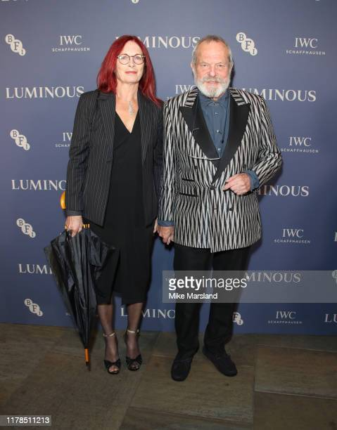 Terry Gilliam and Maggie Weston attend the BFI Luminous Fundraising Gala at The Roundhouse on October 01 2019 in London England