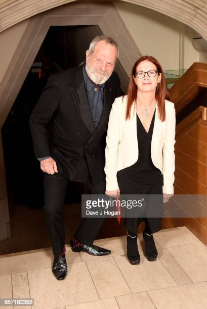 Terry Gilliam and Maggie Weston attend the BFI Luminous Fundraising Gala at The Guildhall on October 3 2017 in London England