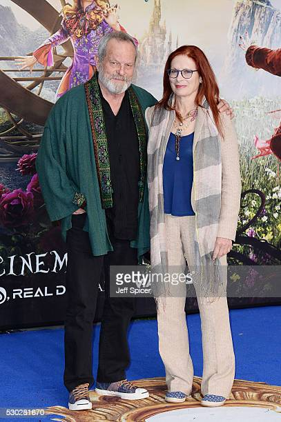 Terry Gilliam and Maggie Weston attend the European premiere of Alice Through The Looking Glass at Odeon Leicester Square on May 10 2016 in London...