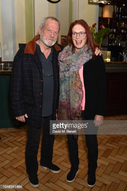 Terry Gilliam and Maggie Weston attend the press night after party for The Height Of The Storm at Browns on October 9 2018 in London England