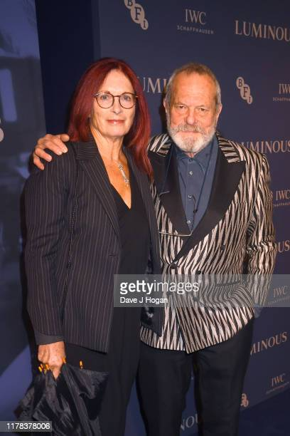 Terry Gilliam and Maggie Weston attends the BFI Luminous Fundraising Gala at The Roundhouse on October 01 2019 in London England