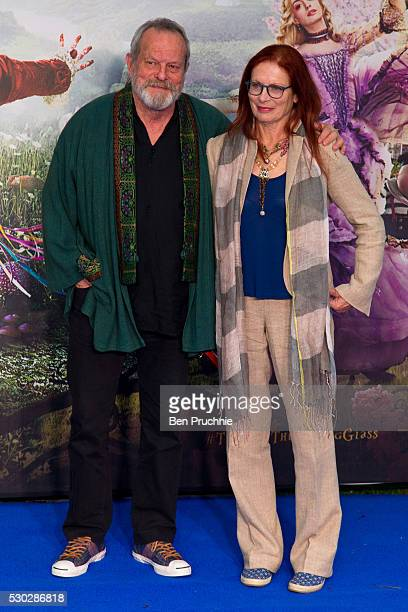 Terry Gilliam and Maggie Weston attends the European Premiere of Alice Through The Looking Glass at Odeon Leicester Square on May 10 2016 in London...