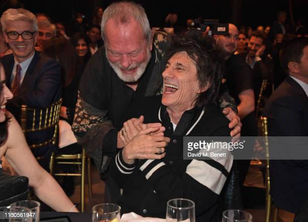Terry Gilliam and Ronnie Wood attend the Roundhouse Gala an evening raising money for the venue's charitable work with young people at The Roundhouse...