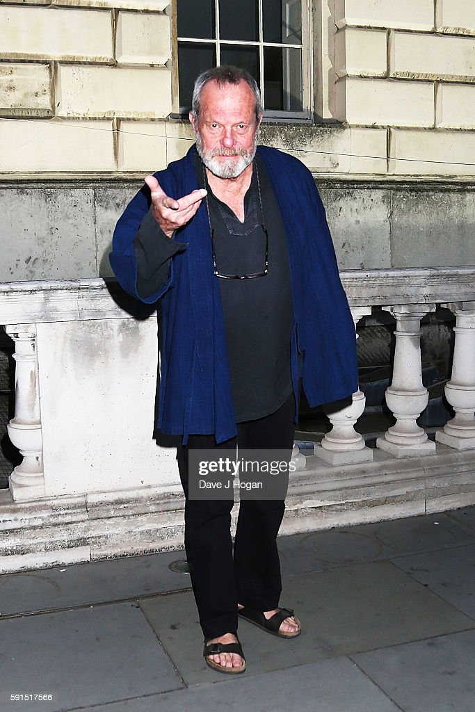 Terry Gilliam arrives for the 'Captain Fantastic' UK film premiere part of the Film4 Summer Series at Somerset House on August 17, 2016 in London, England.