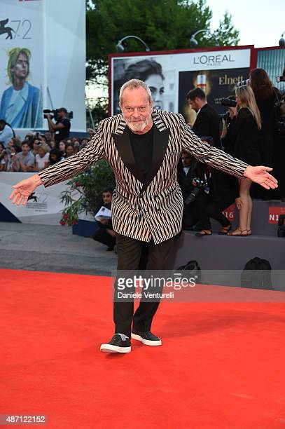 Terry Gilliam attends a premiere for 'A Bigger Splash' during the 72nd Venice Film Festival at Sala Grande on September 6 2015 in Venice Italy