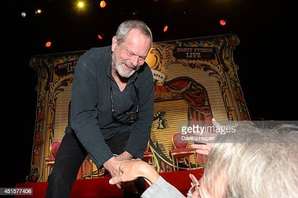 Terry Gilliam attends a QA on the opening night of Monty Python Live on July 1 2014 in London England
