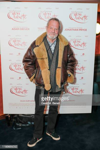 """Terry Gilliam attends a special screening of """"The Man Who Killed Don Quixote"""" at The Curzon Mayfair on January 14, 2020 in London, England."""