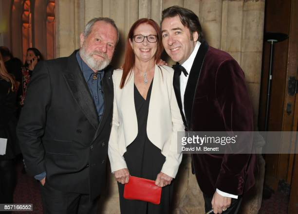 Terry Gilliam Maggie Weston and Jonathan Ross attend the BFI and IWC Luminous Gala at The Guildhall on October 3 2017 in London England