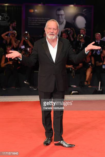 Terry Gilliam walks the Filming In Italy red carpet during the 76th Venice Film Festival at Sala Grande on September 01, 2019 in Venice, Italy.