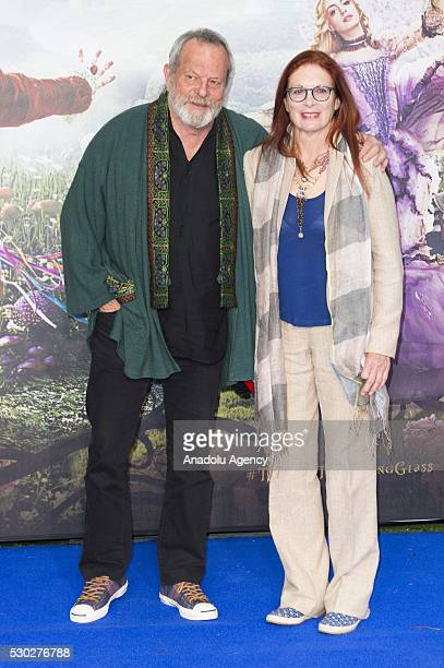 Terry Gillian and wife Maggie Weston attend the European film premiere of Alice Through The Looking Glass in London United Kingdom on May 10 2016