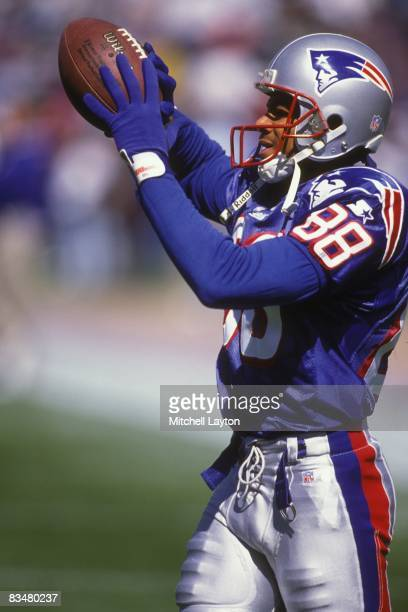 Terry Glenn of the New England Patriots before a NFL football game against the Chicago Bears on September 12 1996 at Gillette Stadium in Foxsboro...