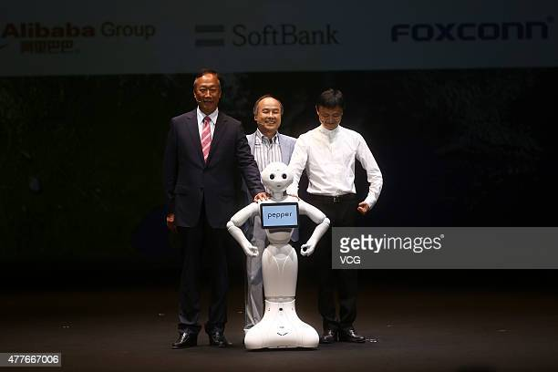 Terry Gou founder and chairman of Taiwan's Foxconn Technology Masayoshi Son chairman and chief executive officer of SoftBank Corp Jack Ma Alibaba...