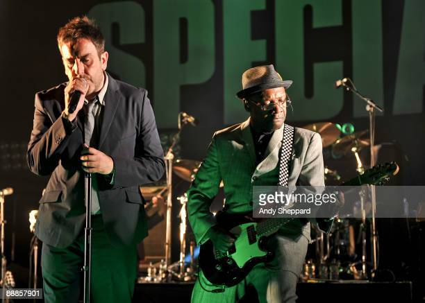 Terry Hall and Lynval Golding of The Specials perform at Brixton Academy on May 8 2009 in London England